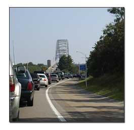 Traffic Jam At The Bourne Bridge In Ma