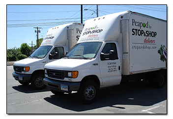 Peapod  RI grocery delivery trucks
