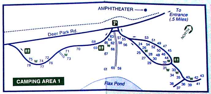 Nickerson State Park Cground Cape Cod Ma: Nickerson State Park Site Map At Usa Maps