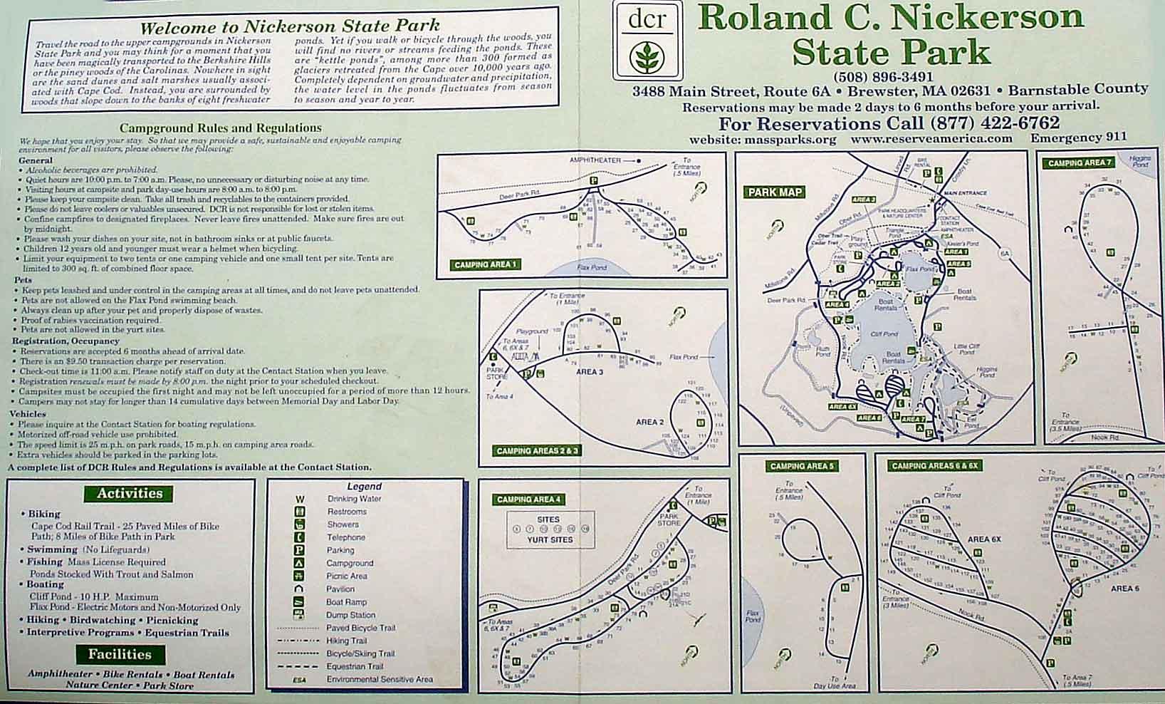 Nickerson State Park Campground Cape Cod MA