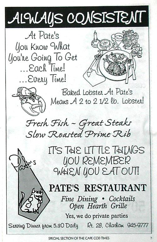 Popular restaurants in cape cod restaurant pictures for Prime fish menu