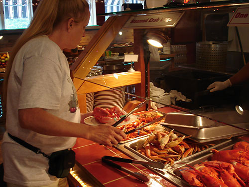 Elements Casino Lobster Buffet